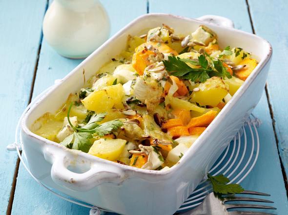 Gemüseauflauf mit Käsesoße Rezept