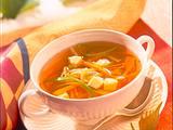 Gemüsebouillon mit Eierstich Rezept