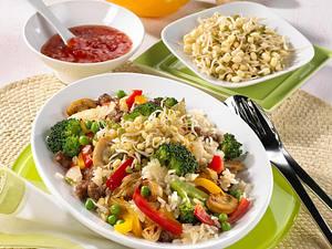 Gemüsebratreis mit Mungobohnensprossen Rezept
