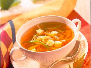 Gemüsebrühe mit Eierstich Rezept