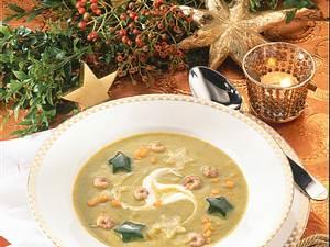 Gemüsecremesuppe mit Krabben Rezept