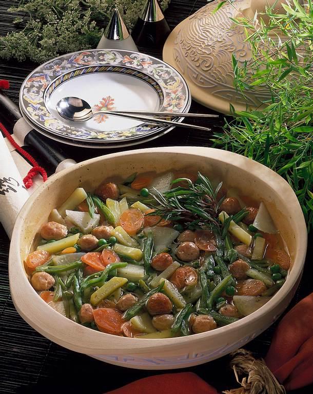 Gemüseeintopf aus dem Tontopf Rezept