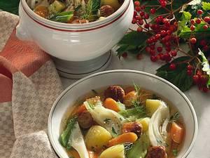Gemüseeintopf mit Bratklößchen Rezept