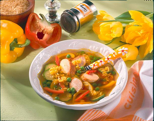 Gemüseeintopf mit Würstchen Rezept