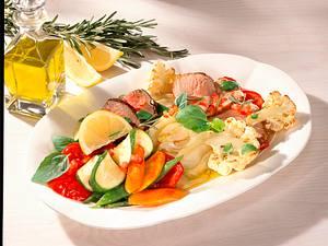 Gemüsepfanne mit Filetscheiben Rezept