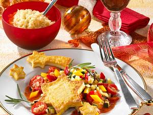 Gemüsepfanne mit Tofusternen und Couscous Rezept