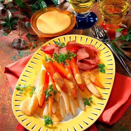 Gemüseplatte mit Choronsoße Rezept