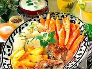Gemüseplatte mit Kartoffeln Rezept