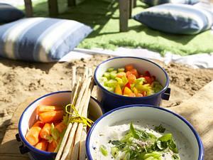 Gemüsesticks mit Dip Rezept