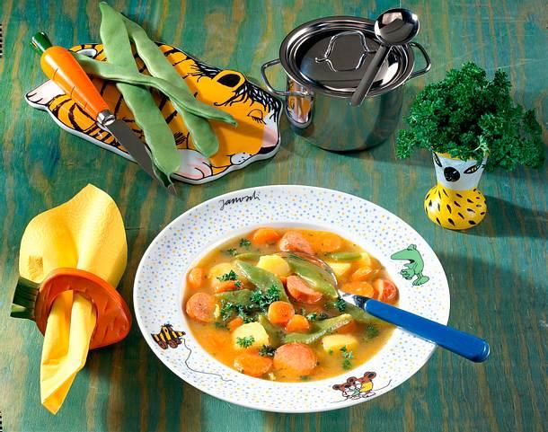Gemüsesuppe für Kinder Rezept