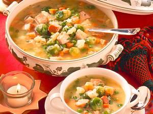 Gemüsesuppe mit Kasseler Rezept