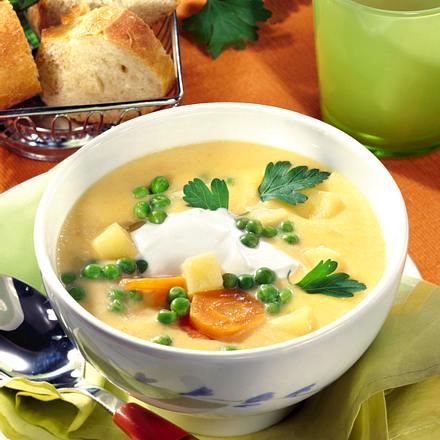 Gemüsesuppe mit Schmand (Diabetiker) Rezept