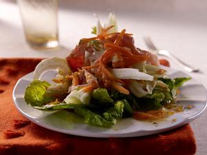 Geraspelter Möhren-Fenchel-Salat mit französischem Kochschinken Rezept