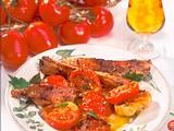 Geschmorte Tomaten zu würzigen Rippchen Rezept