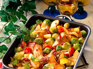 Geschmortes Kaninchen mit Rosenkohl, Äpfeln und Zwiebeln Rezept