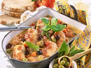 Geschmortes Oliven-Kaninchen Rezept