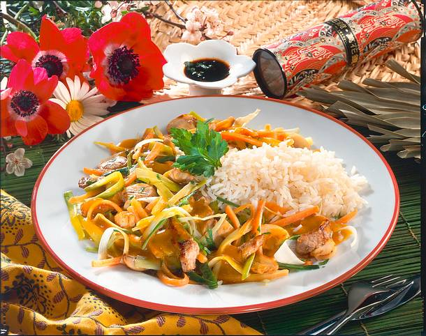 Geschnetzeltes mit Reis Rezept