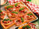 Gesichter-Pizza Rezept