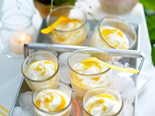Gestrudelte Aprikosen-Mascarpone-Creme Rezept