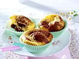 Gestrudelte Käsekuchen-Muffins Rezept