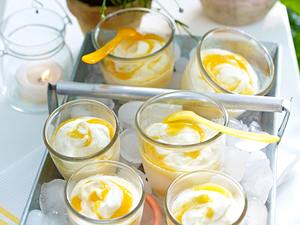 Gestrudeltes Aprikosen-Limetten-Mascarpone-Eis Rezept