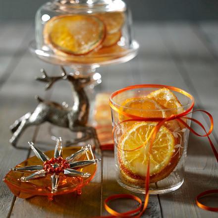 Gezuckerte Orangenscheiben Rezept
