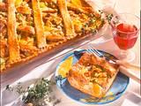 Gitter-Blechkuchen mit Hähnchenfilet Rezept