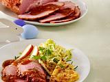 Glasierter Osterschinken und Spitzkohlsalat Rezept