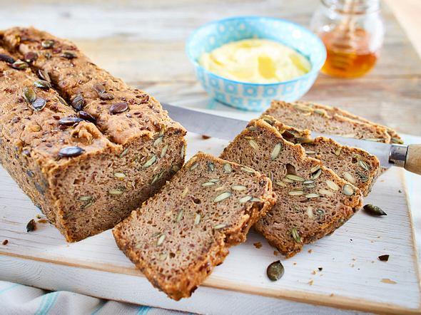 Glutenfreies Kürbiskern-Brot