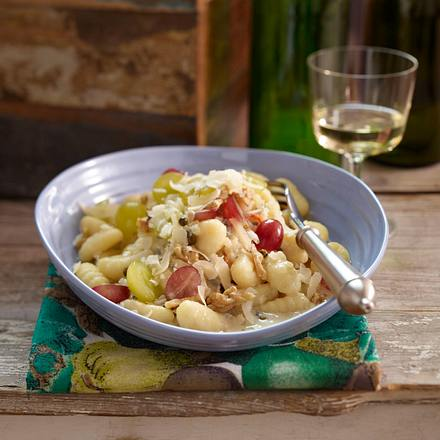 Gnocchi in Gorgonzola-Pfeffersoße mit Weintrauben Rezept