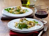 Gnocchi mit Käse-Rucola-Soße Rezept