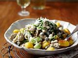 Gnocchi mit weißer Bolognese Rezept