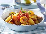 Gnocchi-Pfanne mit Mirabellen und Tiroler Speck Rezept
