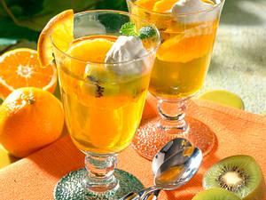 Götterspeise mit Früchten Rezept