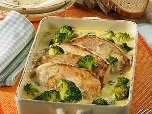 Gorgonzola-Schnitzel-Auflauf Rezept