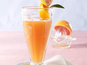 Grapefruit-Orangendrink mit Schmelzflocken Rezept