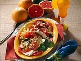 Grapefruit-Salat mit Käse & Salami Rezept