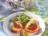Gratinierte Frikadellen-Baguettes Rezept