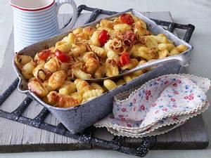 Gratinierte Gnocchi mit Käsesahne Rezept