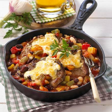 Gratinierte Pfeffer-Steaks Rezept