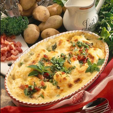 Gratinierte Sahne-Kartoffeln Rezept