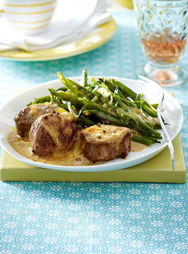 Gratinierte Schweinefilets mit Gorgonzola-Creme Rezept