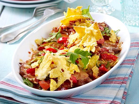 Gratinierte Taco-Schnitzel Rezept