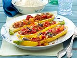 Gratinierte Zucchini mit Ratatouille Rezept
