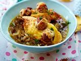 Gratinierte Zwiebelsuppe mit Parmesan-Hackbällchen Rezept