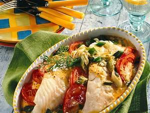 Gratinierter Fisch in Senfcreme Rezept