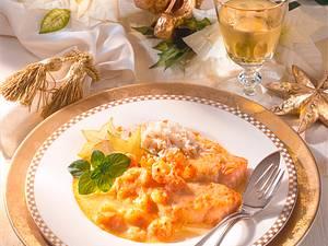 Gratinierter Lachs mit Shrimps Rezept