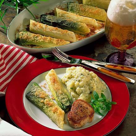 Gratinierter Porree zu Filet Rezept