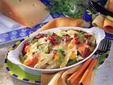 Gratiniertes Gemüse in Käsesoße Rezept