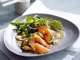 Graved Lachs Asia Style mit Rauke-Salat Rezept